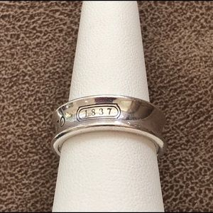 Tiffany & Co Sterling Silver 1837 Band Ring